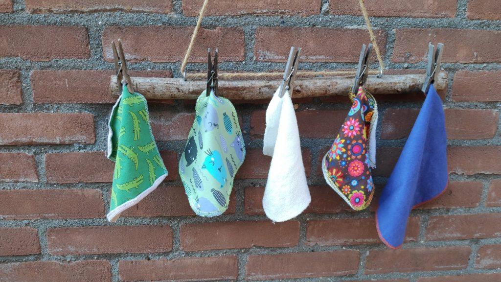 wasbare doekjes wassen / billendoekjes en snoetenpoetsers