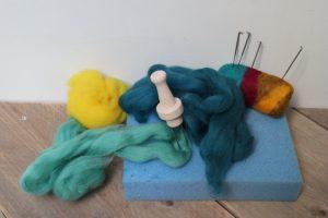 naaldvilten met wol