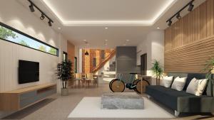 minimalistische woonkamer gezellig