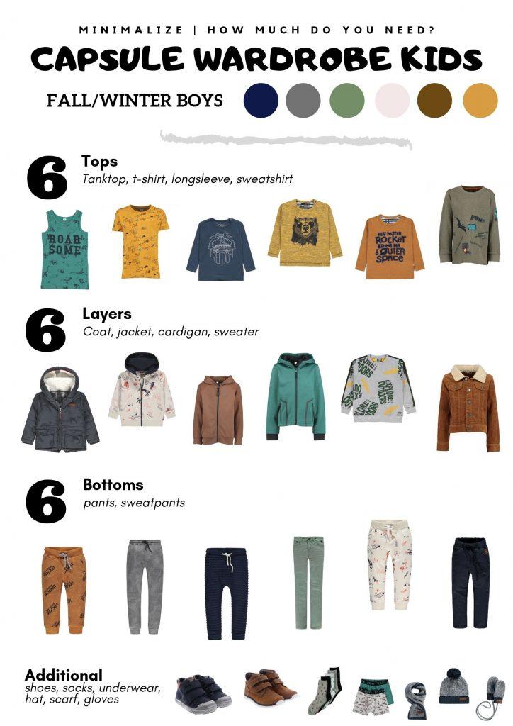 capsule wardrobe voor kids herfst/winter jongens