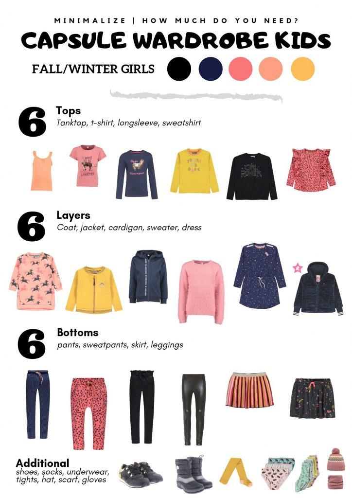capsule wardrobe voor kids herfst/winter meisjes