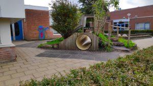 groen schoolplein Prinses Margriet Zoetermeer tunnel