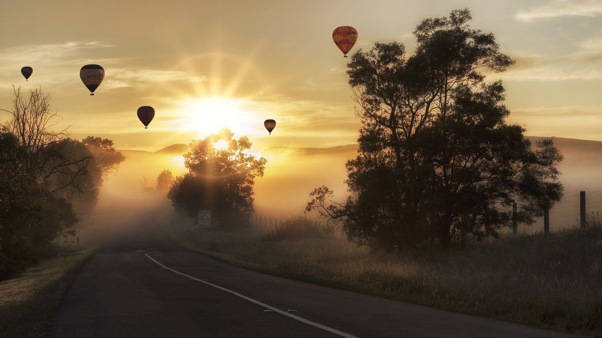 alle ballen in de lucht - luchtballon / loslaten