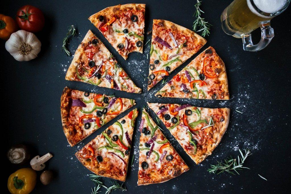gezond eten via Thuisbezorgd pizza