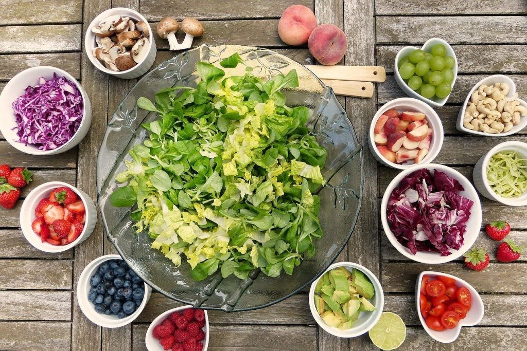 gezond eten via Thuisbezorgd salade