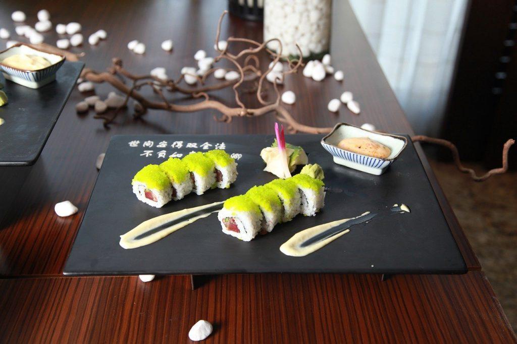 sushi thuis eten bestellen
