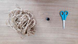 klein zakje van afgeknipte broek maken; nodig