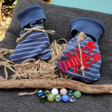 DIY: Klein zakje maken van stof restjes (bijv. knikkerzakje van oude broekspijp)