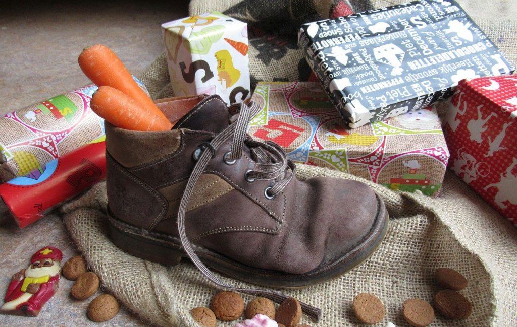5 cadeautjes methode schoen zetten Sinterklaas